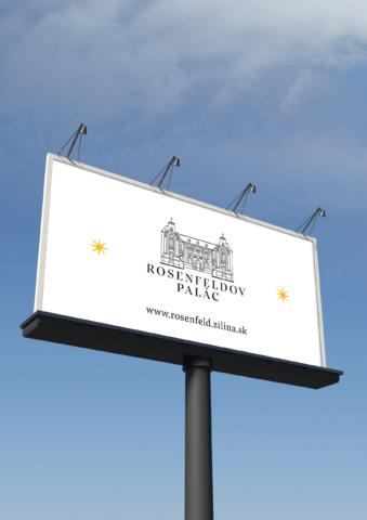 vizuálna identita rosenfeldov palác žilina bilboard