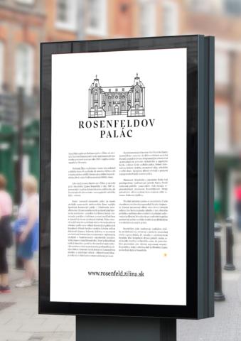 vizuálna identita rosenfeldov palác žilina citylight