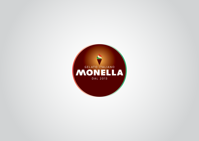 logotyp zmrzlina talianska monella