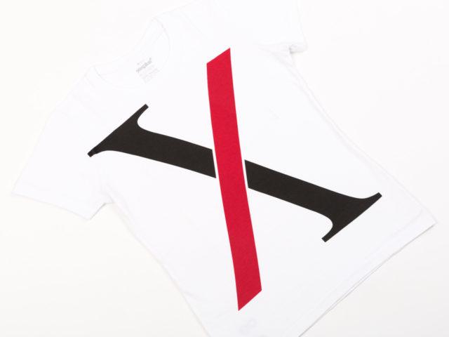"""dámske dizajnové tričko """"X"""" Helvetica vs. Times"""