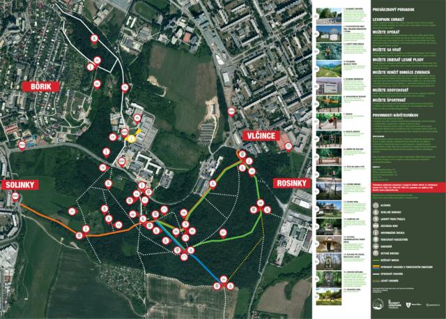 profigrafik navrhol mapu Lesoparku Chrasť v Žiline
